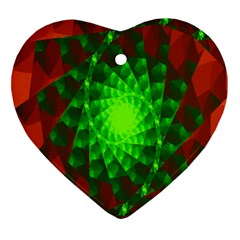 New 10 Heart Ornament (2 Sides) by timelessartoncanvas