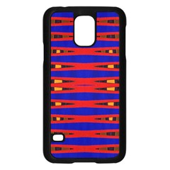 Bright Blue Red Yellow Mod Abstract Samsung Galaxy S5 Case (black)