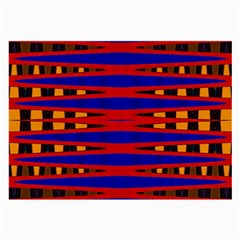 Bright Blue Red Yellow Mod Abstract Large Glasses Cloth (2 Side)