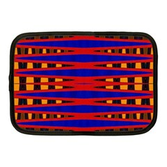Bright Blue Red Yellow Mod Abstract Netbook Case (medium)