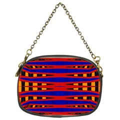 Bright Blue Red Yellow Mod Abstract Chain Purses (two Sides)