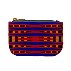 Bright Blue Red Yellow Mod Abstract Mini Coin Purses