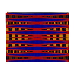 Bright Blue Red Yellow Mod Abstract Cosmetic Bag (xl)