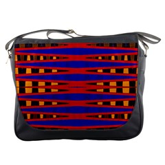 Bright Blue Red Yellow Mod Abstract Messenger Bags