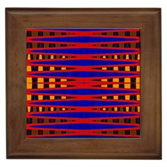 Bright Blue Red Yellow Mod Abstract Framed Tiles