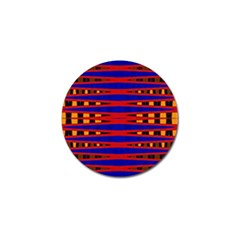Bright Blue Red Yellow Mod Abstract Golf Ball Marker