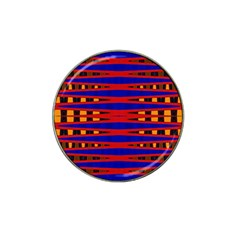 Bright Blue Red Yellow Mod Abstract Hat Clip Ball Marker (4 Pack)