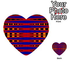 Bright Blue Red Yellow Mod Abstract Multi Purpose Cards (heart)  by BrightVibesDesign