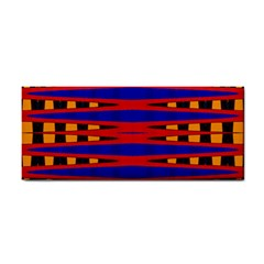 Bright Blue Red Yellow Mod Abstract Hand Towel