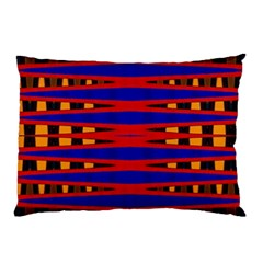 Bright Blue Red Yellow Mod Abstract Pillow Case