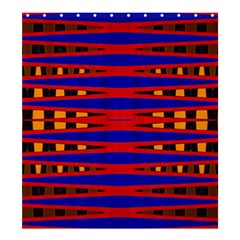 Bright Blue Red Yellow Mod Abstract Shower Curtain 66  X 72  (large)