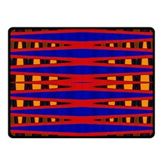 Bright Blue Red Yellow Mod Abstract Fleece Blanket (small) by BrightVibesDesign