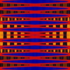 Bright Blue Red Yellow Mod Abstract Magic Photo Cubes by BrightVibesDesign