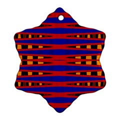 Bright Blue Red Yellow Mod Abstract Ornament (snowflake)