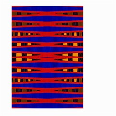 Bright Blue Red Yellow Mod Abstract Large Garden Flag (two Sides)