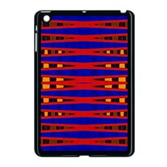 Bright Blue Red Yellow Mod Abstract Apple Ipad Mini Case (black)