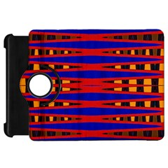 Bright Blue Red Yellow Mod Abstract Kindle Fire Hd Flip 360 Case by BrightVibesDesign