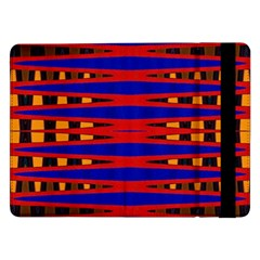 Bright Blue Red Yellow Mod Abstract Samsung Galaxy Tab Pro 12 2  Flip Case by BrightVibesDesign