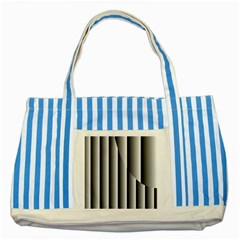 New 13 Striped Blue Tote Bag by timelessartoncanvas