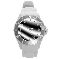 New 15 Round Plastic Sport Watch (l) by timelessartoncanvas