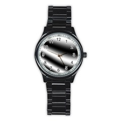 New 15 Stainless Steel Round Watch by timelessartoncanvas