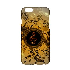 Decorative Clef On A Round Button With Flowers And Bubbles Apple Iphone 6/6s Hardshell Case by FantasyWorld7
