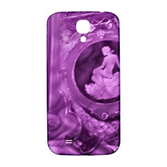 Vintage Purple Lady Cameo Samsung Galaxy S4 I9500/i9505  Hardshell Back Case by BrightVibesDesign