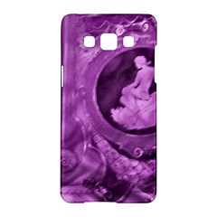 Vintage Purple Lady Cameo Samsung Galaxy A5 Hardshell Case  by BrightVibesDesign