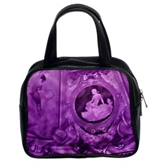 Vintage Purple Lady Cameo Classic Handbag (two Sides) by BrightVibesDesign