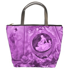 Vintage Purple Lady Cameo Bucket Bag by BrightVibesDesign