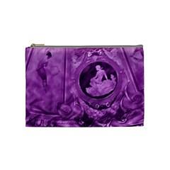 Vintage Purple Lady Cameo Cosmetic Bag (medium) by BrightVibesDesign
