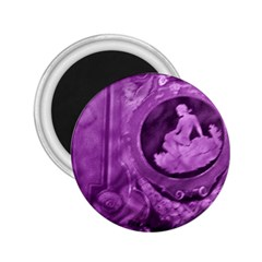 Vintage Purple Lady Cameo 2 25  Magnets by BrightVibesDesign