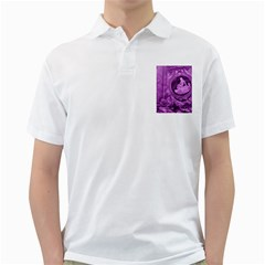 Vintage Purple Lady Cameo Golf Shirts by BrightVibesDesign