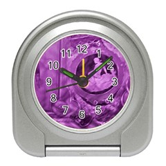 Vintage Purple Lady Cameo Travel Alarm Clocks by BrightVibesDesign