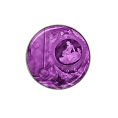 Vintage Purple Lady Cameo Hat Clip Ball Marker (4 Pack) by BrightVibesDesign