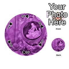Vintage Purple Lady Cameo Playing Cards 54 (round)  by BrightVibesDesign
