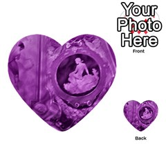 Vintage Purple Lady Cameo Multi Purpose Cards (heart)  by BrightVibesDesign