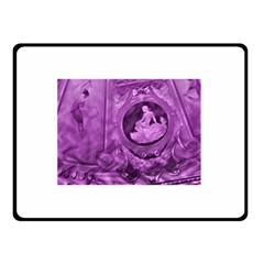 Vintage Purple Lady Cameo Double Sided Fleece Blanket (small)  by BrightVibesDesign