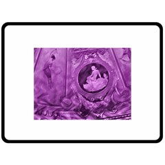 Vintage Purple Lady Cameo Double Sided Fleece Blanket (large)  by BrightVibesDesign