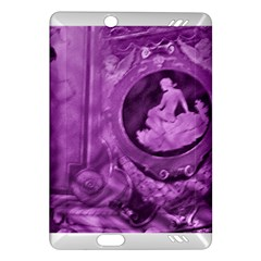 Vintage Purple Lady Cameo Amazon Kindle Fire Hd (2013) Hardshell Case by BrightVibesDesign
