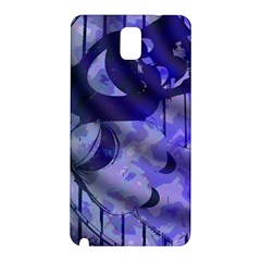 Blue Theater Drama Comedy Masks Samsung Galaxy Note 3 N9005 Hardshell Back Case by BrightVibesDesign