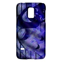 Blue Theater Drama Comedy Masks Galaxy S5 Mini by BrightVibesDesign
