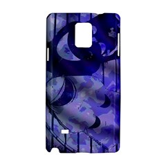 Blue Theater Drama Comedy Masks Samsung Galaxy Note 4 Hardshell Case by BrightVibesDesign