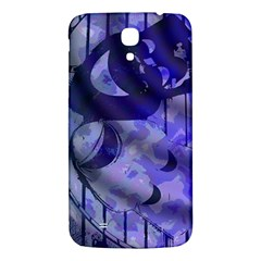 Blue Theater Drama Comedy Masks Samsung Galaxy Mega I9200 Hardshell Back Case by BrightVibesDesign