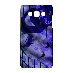 Blue Theater Drama Comedy Masks Samsung Galaxy A5 Hardshell Case  by BrightVibesDesign