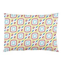 Squares Rhombus And Circles Pattern  			pillow Case by LalyLauraFLM