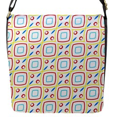 Squares Rhombus And Circles Pattern  			flap Closure Messenger Bag (s) by LalyLauraFLM