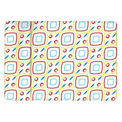 Squares Rhombus And Circles Pattern  			samsung Galaxy Tab 10 1  P7500 Flip Case by LalyLauraFLM