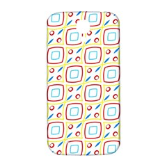 Squares Rhombus And Circles Pattern  			samsung Galaxy S4 I9500/i9505 Hardshell Back Case by LalyLauraFLM
