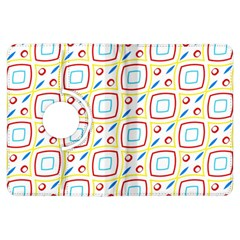 Squares rhombus and circles pattern  			Kindle Fire HDX Flip 360 Case by LalyLauraFLM